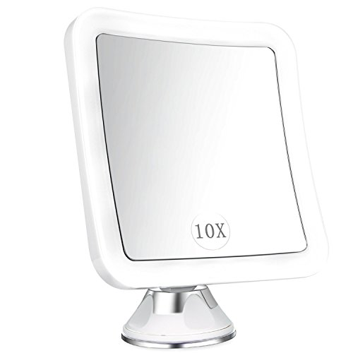 Lanverie Led Mirror, 10x LED Magnifying Makeup Mirror, Bathroom Shaving, Wall Mounted Shower Mirror,...