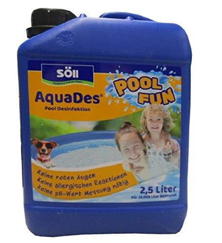 Söll 14707 AquaDes Pool-Desinfektion flüssig 2,5 l - wirksame Poolreinigung Wasserpflege gegen Bakterien und Keime zur Desinfektion von Pool Whirlpool Kinderplanschbecken Swimmingpool Schwimmbecken