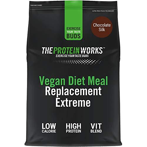 Sustitutivo de Comida Dietético Vegano Extreme | Batido bajo en calorías para perder peso | Vitaminas & minerales esenciales | THE PROTEIN WORKS | Chocolate Suave | 1kg