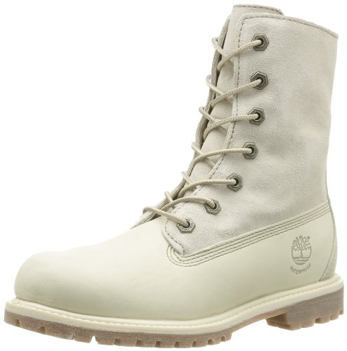 Timberland Authentics FTW_Authentics Teddy Fleece WP Fold Down 8331R, Damen Stiefel, Weiß (Winter White), EU 36 (US 5.5)