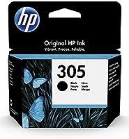 HP 305 3YM61AE, Negro, Cartucho Original de Tinta, Compatible con impresoras de inyección de Tinta HP DeskJet Serie...