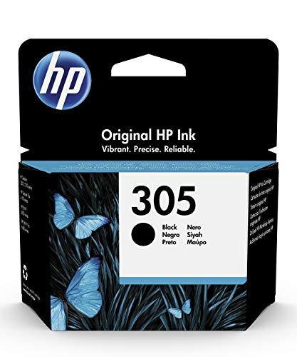 HP 305 3YM61AE, Negro, Cartucho Original de Tinta, Compatible con impresoras de inyección de Tinta HP DeskJet Serie 2700,...