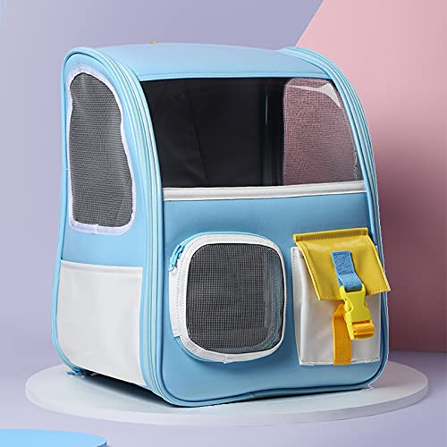Mochila para mascotas con cápsula espacial, estilo de diseño juvenil, 32 * 30 * 42 cm, adecuada para mascotas dentro de los 8 kg, el cuerpo del paquete se puede plegar, techo corredizo panorámico de