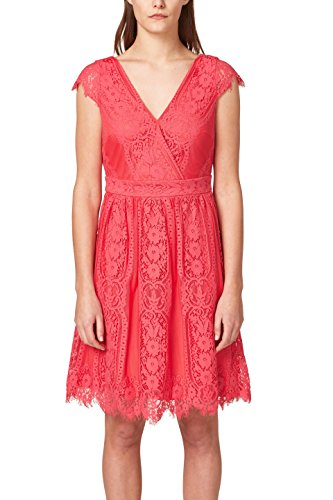 ESPRIT Collection Damen 038EO1E021 Partykleid, Rosa (Pink Fuchsia 660), X-Large
