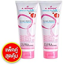 350 G. x 2 tubes, A BONNE' Miracle Spa Milk Shower Salt Home SPA for Skin Whitening Smooth & radiant and Firming