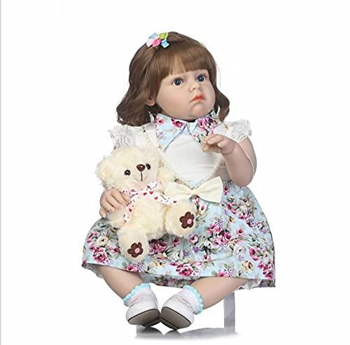 ZYYH Reborn Baby Doll, Simulation Girl Toddler, Soft Silicone Real Life Baby, 70 cm, una Variedad de Estilos para Elegir,G