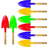 Hslife 8 Pieces 11'' Toy Shovels,Mini Shovel Kids Garden Tools,Wooden Handle Beach Shovels Garden Shovels