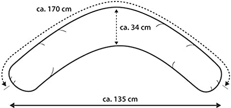 référence 110 étoiles Gris Top Theraline DODO Still Coussin dodopillow 170 cm incl
