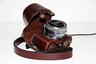 PU Leather Camera Case Protecting Pouch for SONY Alpha NEX 5, NEX-5C, NEX-5N, NEX-5R (18-55mm) Digital Camera (Dark Brown)