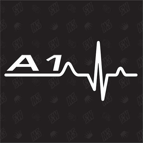 speedwerk-motorwear A1 Herzschlag - Sticker kompatibel mit Audi