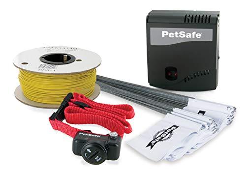 PetSafe - Système de Clôture Anti-fugue avec Fil pour Chien de plus 3,6 Kg – 4 niveaux de stimulations - Tous types de Jardin (jusqu à 0.13 Hectares) - Imperméable - Facile à Installer