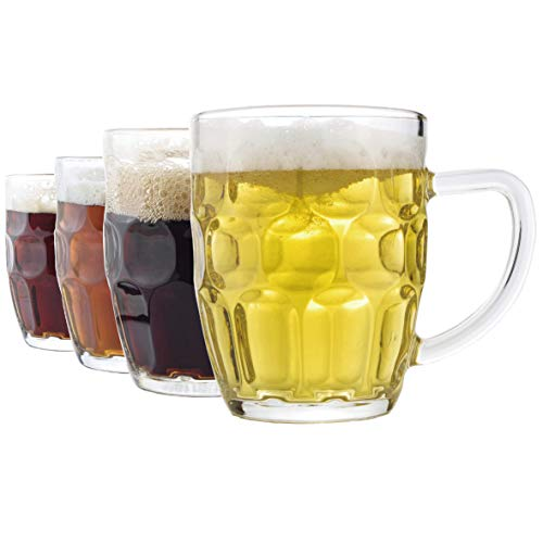 Dimple Stein Beer Mug - 20 OZ (4 Pack)