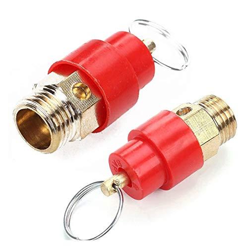 Cubierta de la válvula del neumático Presión de la válvula de seguridad del compresor de aire de salida del regulador de 9 mm de diámetro for tubería de presión Índice de válvula ( Size : 7KG 0.7MPA )