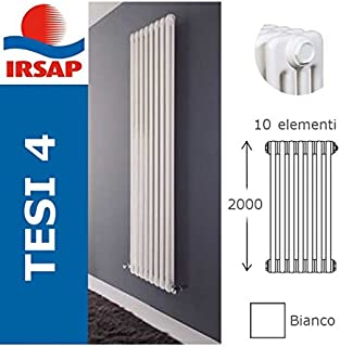 Irsap Radiador Tesi, batería 2000/4, 10elementos, blanco
