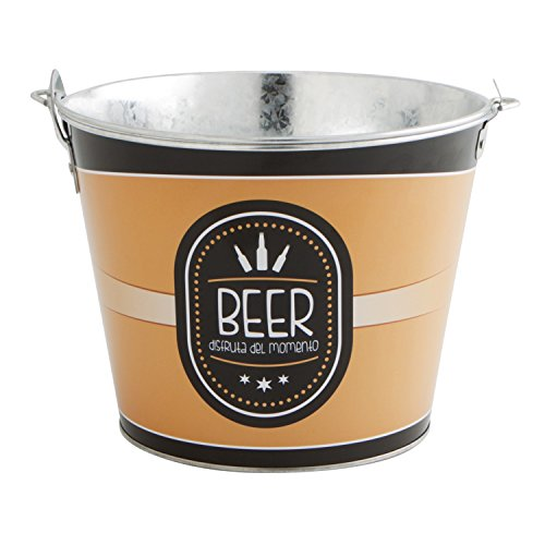 Quid Cubo Cerveza BOTELLIN 6L MI Bar QD, Acero, Azul y Negro
