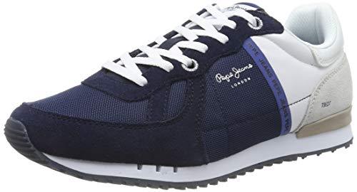 Pepe Jeans London Herren Tinker Zero Seal Sneaker, Blau (582midnight 582), 44 EU