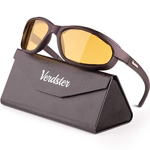 Verdster Airdam – Gafas de Sol Polarizadas para Hombre para Moto – Protección UV, Diseño Cómodo Envolvente con Almohadillas de Espuma – Ideal para Motocicleta