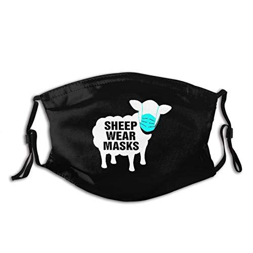 Máscara de desgaste de ovejas máscara de impresión reutilizable unisex regalos para hombres y mujeres pasamontañas Bandana paño