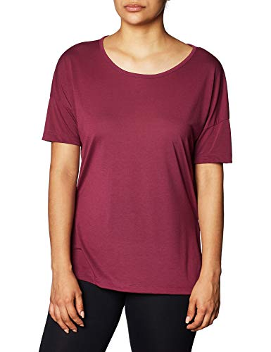 NIKE CJ9326-671 Yoga Shirt, Villain Red/Shadowberry, XS Womens