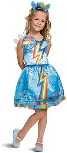 Disguise Rainbow Dash My Little Pony Costume for Girls Children s Character Dress Outfit Classic product image