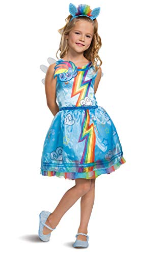 Rainbow Dash My Little Pony Costume for Girls, Children's Character Dress Outfit, Classic Kids Size Medium (7-8)