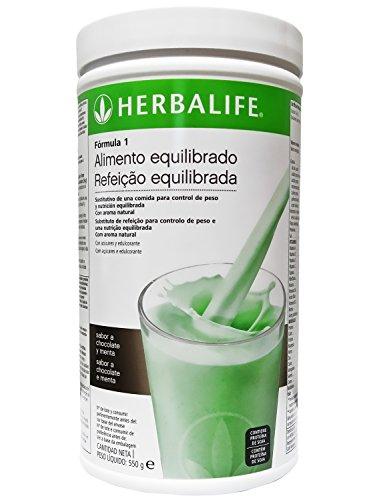 clasificación y comparación Fórmula 1 de Herbalife, chocolate y menta – 550 g para casa