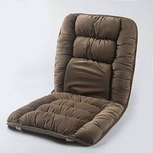 Vierkante rugkussens, bekleding voor schommelstoel, hardschommelstoel, antislip, universeel verdikt, met veters voor de achterbank, zacht gevoerd, kleur: bruin, afmetingen: 40 x 80 cm (16 x 31 inch)
