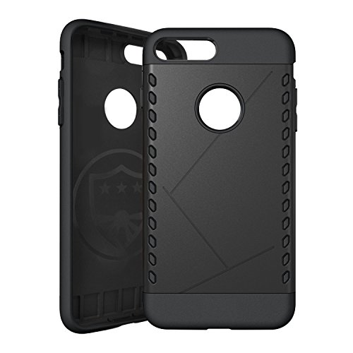 iPhone 7 Plus Case, TechMatte MagGrip iPhone 7 Plus Case for MagGrip Magnetic Car Mounts, Includes Built-in Metal Plate (Black)