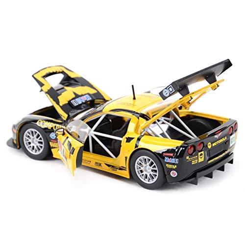 DSWS Aleación presión fundición Coche Modelo Kit 1:24 para Chevrolet Corvette C6R Carracing Car Vehículos de fundición Mense Modelo de colección Juguetes de automóviles