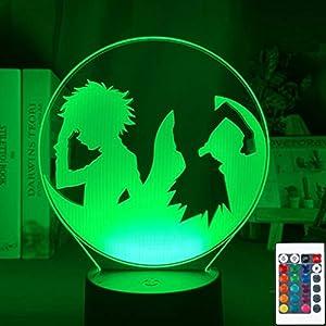 Child Bedroom Decor Desk Lamp Hunter X Hunter Gon Freecss and Killua Zoldyck 3D Illusion Led
