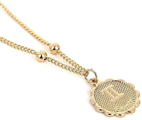 Yaoliangliang Collar con Colgante de constelación del Zodiaco, Collar de Cadena de constelación de Cobre, constelación de constelación, Regalo de joyería para Mujer
