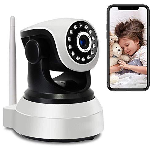 Vigilabebés WiFi con PTZ Cámara y Audio Monitor de bebé High-Definition 1080P Cámara IP de Vigilancia Interior,Visión Nocturna,Rotación355°/90°,Audio bidireccional,Detección de Movimiento 【Cámara】