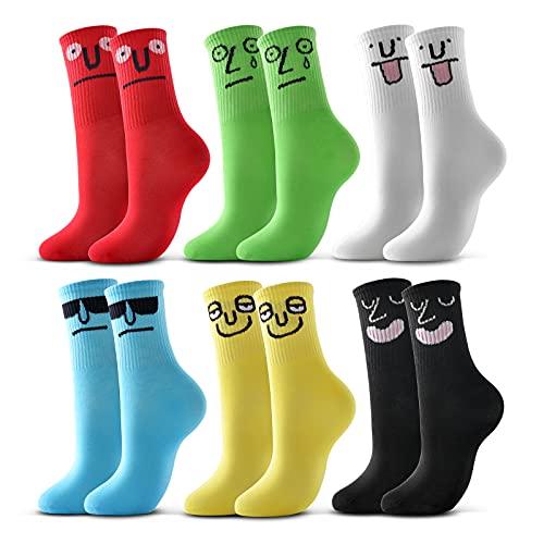 raku. Bunte Socken Damen Lustige Baumwolle Bonbon Farbe Cartoon Casual Niedlich 6 Paar (39-42)