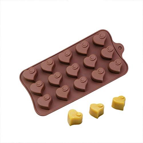 HONG YU 3D en Forme de Coeur Swirl de Cuisson Moule Silicone Chocolat Moule Jelly Bonbons Savon Moule pâtisserie Outils ustensiles de Cuisson décoration de gâteau