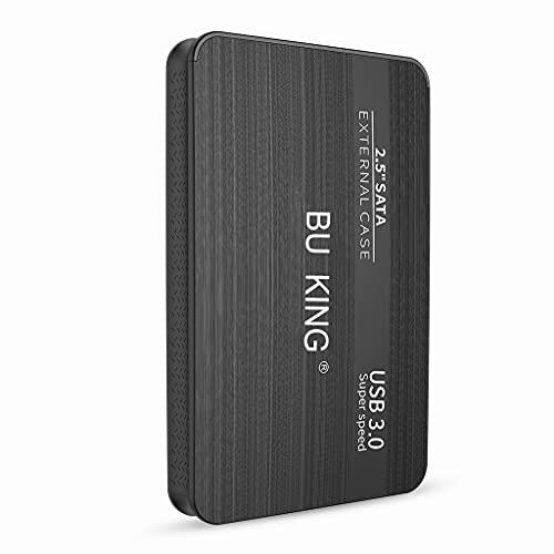 BU KING Mirco USB 3.0 Disco Duro Externo 250GB Disco Duro Externo Dispositivo de Almacenamiento USB PS4, TV Box Memoria Flash de Escritorio-Negro