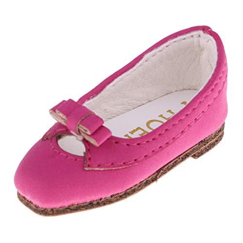 Fashion Zapatos para Muñecas BJD Escala 1/6 - Rosa roja
