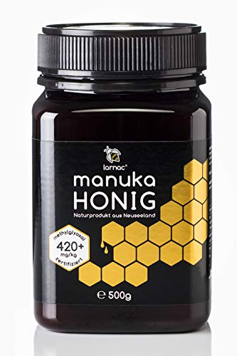Larnac Manuka Honig 420+ MGO aus Neuseeland, 500g, zertifizierter Methylglyoxalgehalt