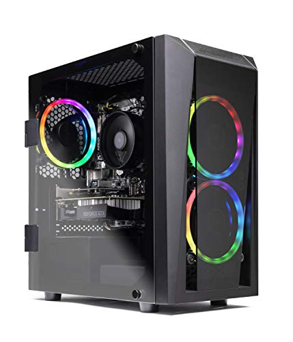 SkyTech Blaze II Gaming Computer PC Desktop Ryzen 5 2600 6-Core 3.4 GHz, NVIDIA GeForce GTX 1660 6G, 500G SSD, 8GB DDR4, RGB, AC WiFi, Windows 10 Home 64-bit
