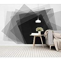 mzznz カスタマイズされた大規模な3D壁画壁紙モダンなシンプルな人格幾何学的な正方形の寝室リビングルームの背景の壁-250X175Cm