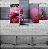 wfdyddp 5 pittura su teladessert ai frutti di bosco pittura di arte della parete stampa su tela canapa quadri per l'ufficio domestico decorazione moderna artistica(incorniciato)