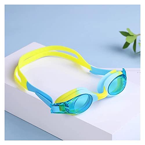 Gafas De Natación para Niños Ajustables Sin Fugas Anti-Niebla Lentes Natación Gafas Planas Lentes Adultos Hombres Mujeres Juventud (Color : Sky Blue)