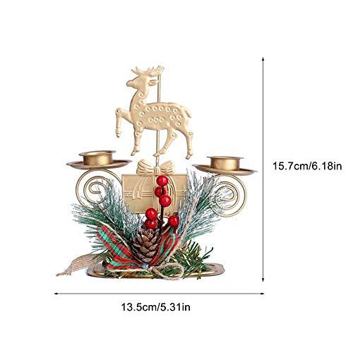 Weihnachtskerzenhalter Metall Kerzenhalter Ornament für Party Home Hochzeit Wohnzimmer Dekor Weihnachtsgeschenk