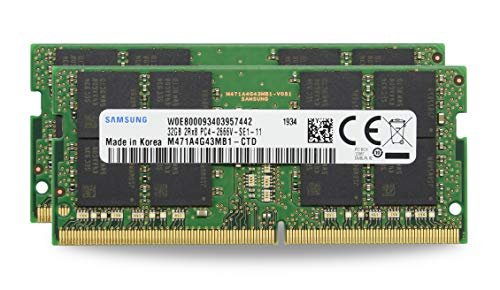 "Adamanta 64GB (2x32GB) Genuine Factory Original Memory Upgrade for 2020 & 2019 Apple iMac 27"" Retina 5K Display & 2018 Apple Mac Mini DDR4 2666Mhz PC4-21300 SODIMM 2Rx8 CL19 1.2v DRAM RAM"