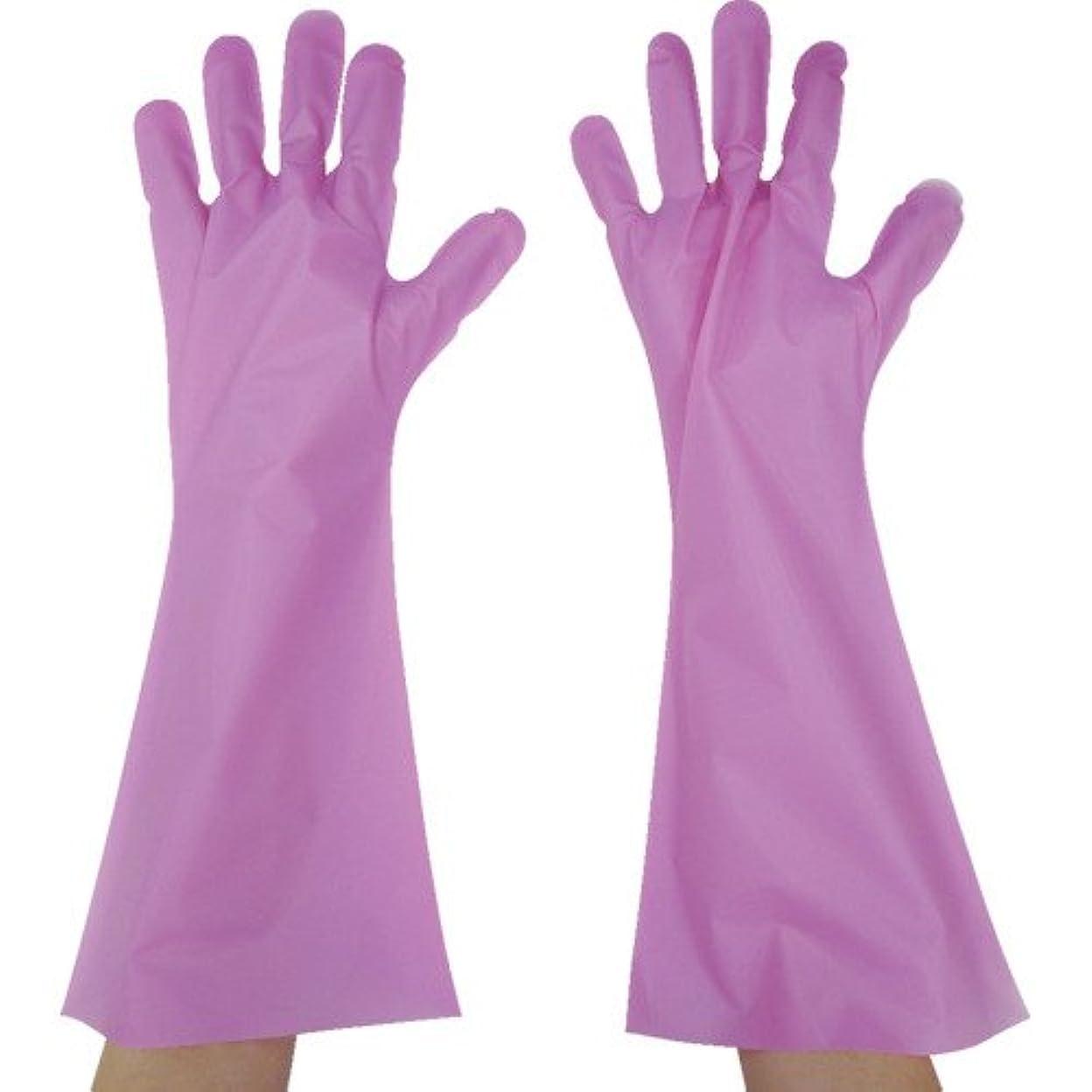 溶ける引退するフェミニン東京パック エンボス手袋ロング五本絞り ピンク S PL45S