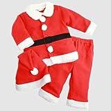 【サンタ】 【サンタスーツ】フリース3点セットスーツ (90cm)