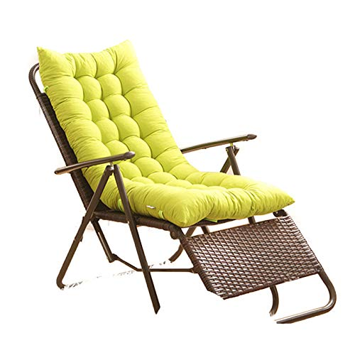 Interior/Exterior Chaise Lounge Cojín Patio Reclinable Silla Gravedad Cero Cojín...