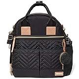 Skip Hop Diaper Bag Backpack: Suite 6-in-1 Diaper Backpack Set, Multi-Function Baby Travel Bag with Changing Pad, Stroller Straps, Bottle Bag and Pacifier Pocket, Black