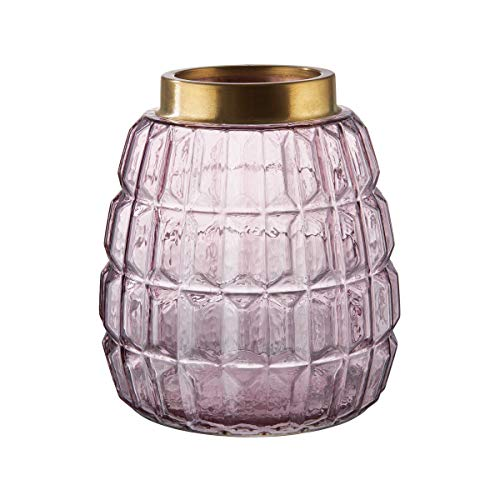 Butlers Grace Windlicht/Vase mit Messingrand 18,5cm