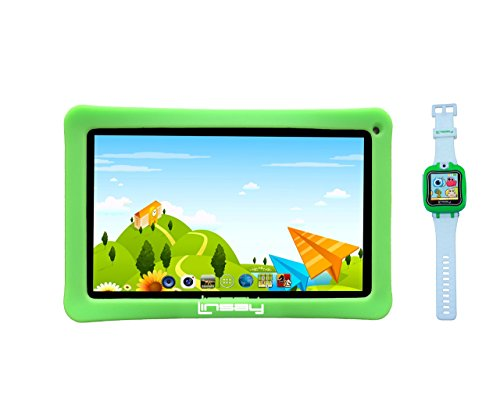 LINSAY New F7KGWG7 Kids Tablet Green Bundle with 1.5' Smart Watch Kids Cam Selfie Green up to 32GB