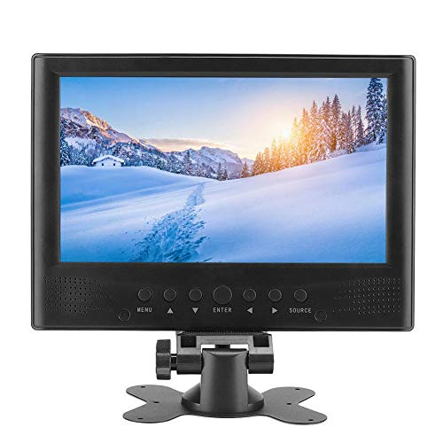 Televisor portátil HD DVB-T/T2 de 9 pulgadas Televisor LCD con pantalla panorámica 1080P Sintonizador digital incorporado con antenas desmontables, cargador para automóvil, cinta adhesiva de doble car